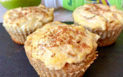 Recept na fit šťavnaté hruškovo škoricovo pudingové muffiny od foodblogerky @fit.and.rea