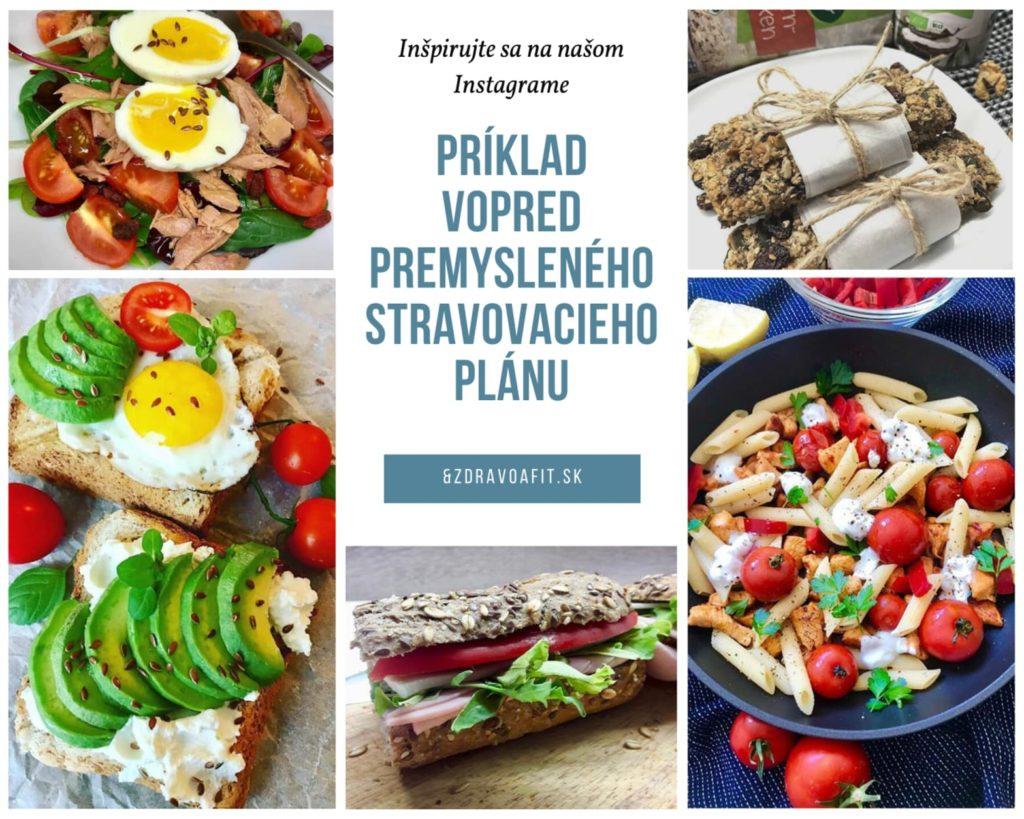 príklad stravovacieho plánu